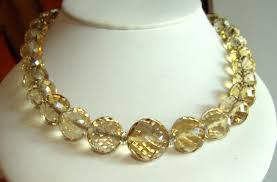 natural bead necklace images Vintage genuine natural citrine faceted beads necklace alison jpg