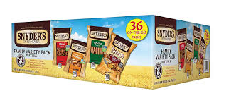 amazon com snyder u0027s of hanover pretzel variety pack 36 count