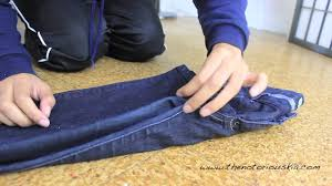 closet organization how to perfectly fold jeans youtube