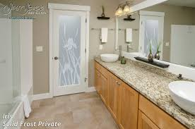 English Country Bathroom Iris English Country Decor Interior Etched Glass Doors