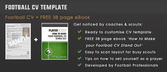 how to write a football cv football cv templates key attributes