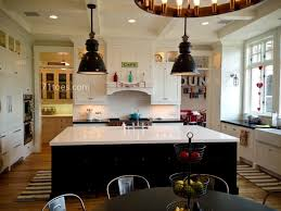 huge kitchen islands furniture chic industrial pendant lights and waterfall countertop