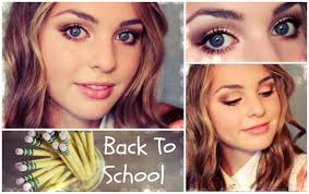 school for makeup glam back to school makeup look