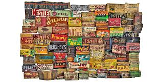 loads of vintage candy wrappers found under the floor of historic