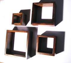 wall cube shelves set of 4 wall cubes shelves cottage chic