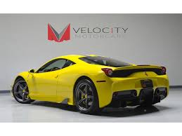 ferrari yellow 458 2014 ferrari 458 speciale for sale in nashville tn stock