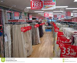 The Warehouse Curtain Sale Curtains Or Drapes For Sale In A Store Editorial Stock Photo