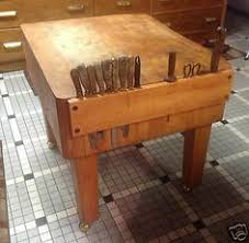 meat cutting table tops butchers block perfect addition to old look kitchen pinteres
