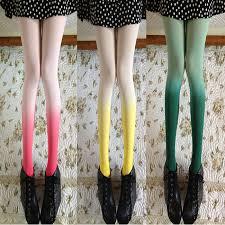 cute stockings retro stockings pantyhose gradient color leggings tights cute