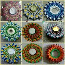 quilled design on waste cd rangoli pinterest quilling and craft