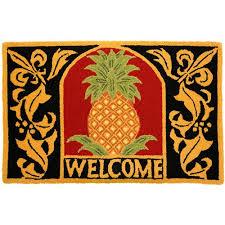 Pineapple Area Rug Homefires Welcome Pineapple Area Rug Walmart
