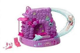amazon polly pocket fountain falls playset toys u0026 games