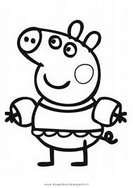 peppa pig coloring pages a4 27 best peppa pig disegni da colorare images on pinterest pigs