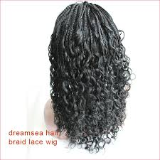 medium box braids with human hair 150 density thick full ends loose curly lace wig for american