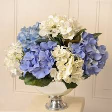 hydrangea arrangements blue and white hydrangea silk floral arrangement ar397 floral