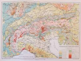 Northern Italy Map by Geology Maps Vintage Maps