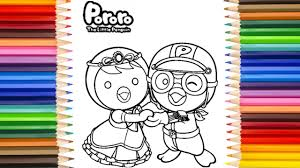 pororo and petty coloring book 뽀롱뽀롱 뽀로로 online coloring for