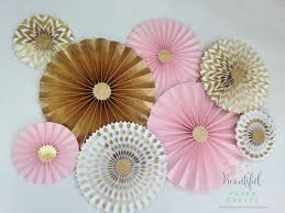 pink and gold glitter gold rosette backdrop pink and gold