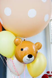 teddy bears inside balloons cuddly teddy party ideas s teddy picnic