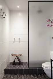 glass shower partition ideas transitional bathroom
