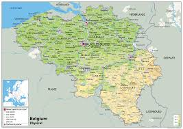 physical map of belgium belgium physical map i maps