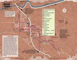 Moab Utah Map by Moab Town And Area Maps Free Guestguide Publications