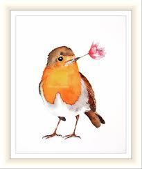 northern cardinal print watercolour redbird bird illustration