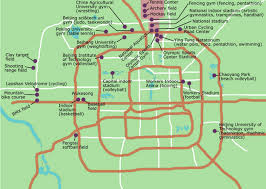 Beijing China Map by Beijing Olympic Venues Map Beijing China U2022 Mappery