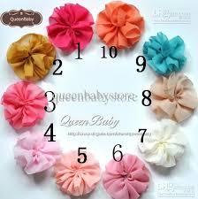 Flower Wholesale Diy Mini Chiffon Flowers Solid Ballerina Flowers Wholesale Shabby
