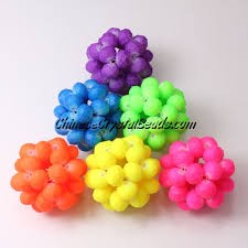 beaded balls 28mm half rainbow b