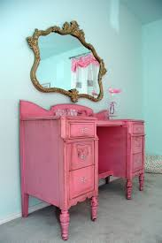furniture beautiful rustic painted pink wooden vanity designed