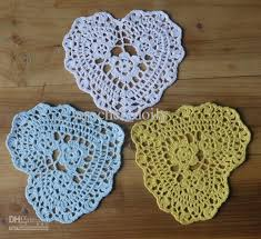 heart shaped doilies 2018 wedding crochet doily white shaped heart handmade crochet