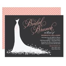 brunch invitation ideas bridal brunch invitations announcements zazzle