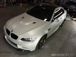 custom white bmw custom satin pearl e92 m3