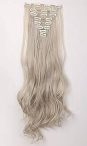 light ash blonde clip in hair extensions stylish 24 61cm full head clip in hair extensions 8 piece 18clips