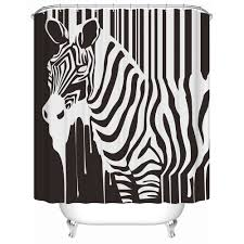 online get cheap zebra shower curtains aliexpress com alibaba group charmhome zebra shower curtains waterproof fabric shower curtain acceptable personalized custom practical bathroom curtain china