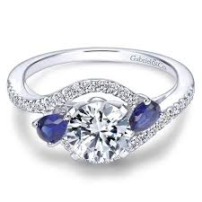 engagement rings sapphire images Gabriel er5331 bypass diamond and sapphire engagement ring jpg