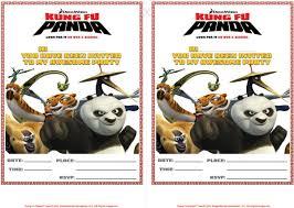 free printable kung fu panda party invitations printable