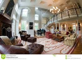 fish eye view large luxury living room royalty free stock