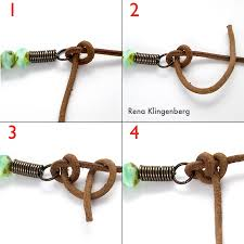 string beads necklace images Rustic leather bead necklace tutorial jewelry making journal jpg