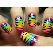 zebra pattern nail art nail 2 how cute nails designs pinterest rainbow zebra and