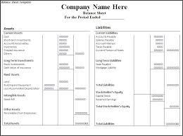 Account Balance Sheet Template Free Balance Sheet Template