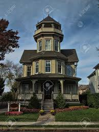 victorian tower house stock photo picture and royalty free image