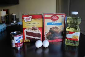 5 ingredient red velvet brownie cake recipe that u0027s super chocolaty