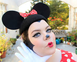 Makeup Halloween Costume by Minnie Mouse Diy Halloween Costume U0026 Makeup Tutorial