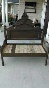 Bench Made From Bed Headboard 56 Best Crib Benches Images On Pinterest Crib Bench Furniture