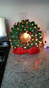 thrift haul ceramic light up wreath make sure to follow my