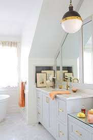 Best Carrara Marble With Brass Images On Pinterest Home - Carrara marble bathroom designs
