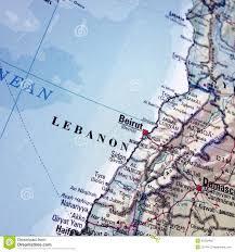 Map Of Lebanon Map Of Lebanon Stock Photo Image 45203492