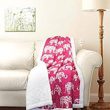 parade throws wholesale elephant printed throw blanket black white sherpa